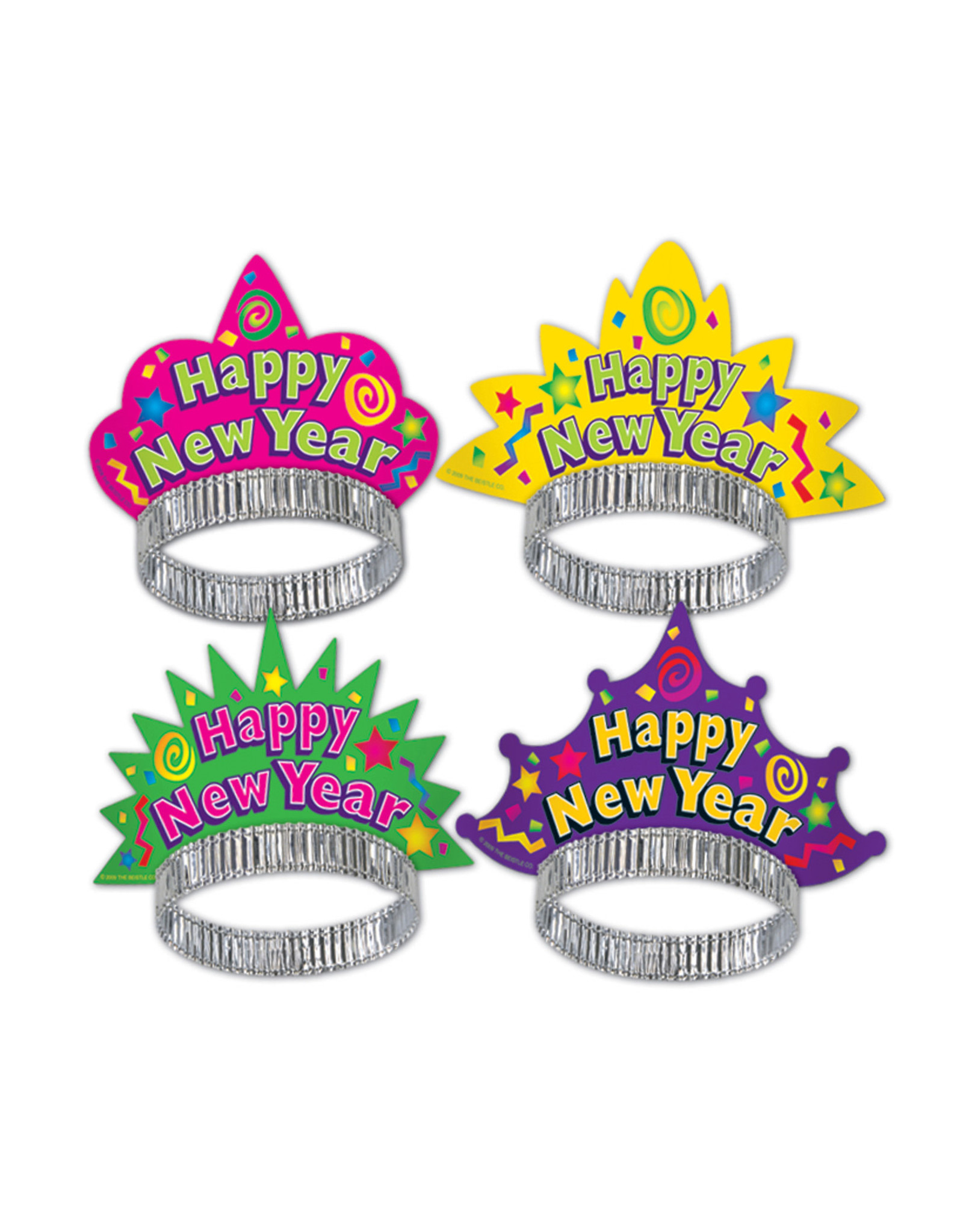Beistle Happy New Year Paper Tiara - Asst. Colors