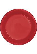 "35ct. 10"" Red Plastic Dinner Plates"