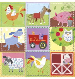 unique Farm Party Lunch Napkins - 16ct.