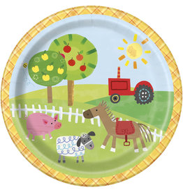 "unique Farm Party 7"" Plates - 8ct."