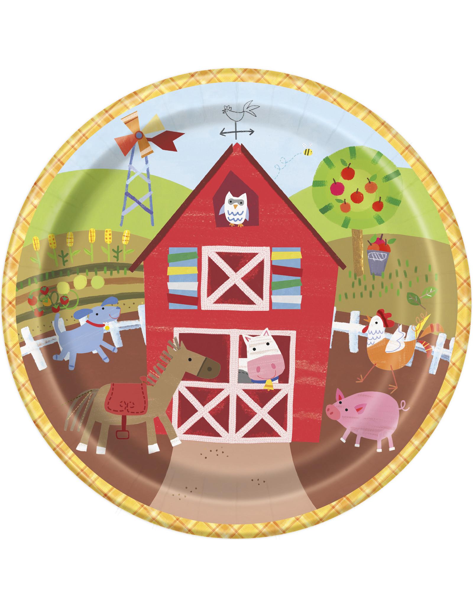 """unique Farm Party 9"""" Plates"""
