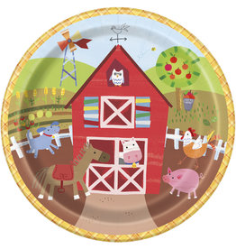"unique Farm Party 9"" Plates - 8ct."