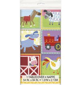 """unique Farm Party Tablecover (54"""" x 84"""")"""