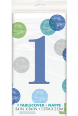 unique 1st Birthday Blue Dots Tablecover