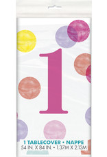 unique 1st birthday Pink Dots Tablecover