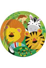 """unique Animal Jungle 9"""" Plate - 8ct."""