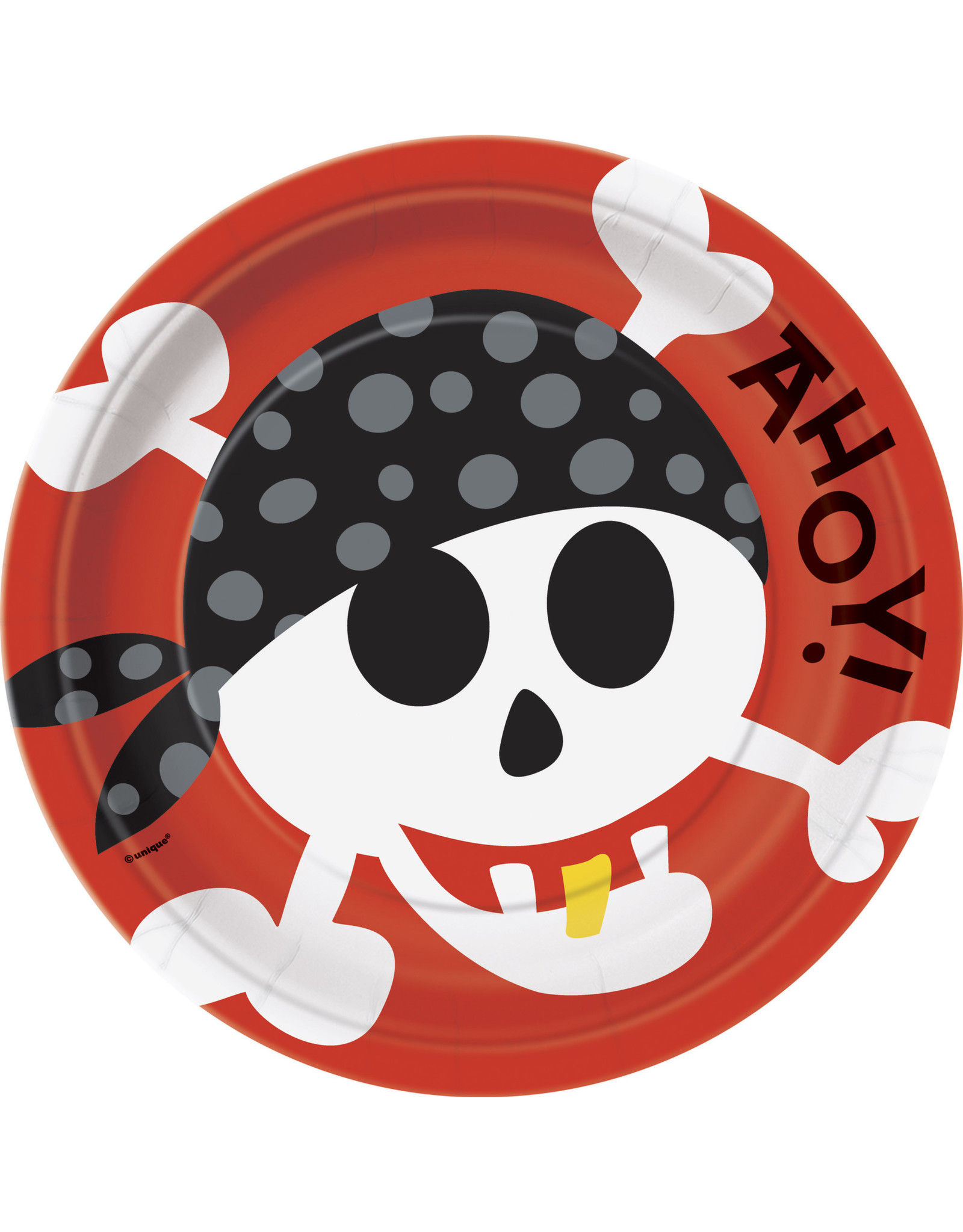 """unique Pirate Fun 9"""" Plate - 8ct."""