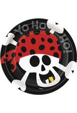 """Pirate Fun 7"""" Plate - 8ct."""