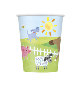 unique Farm Party 9oz Paper Cups - 8ct.