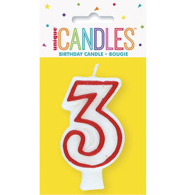 unique Birthday Number Candle #3