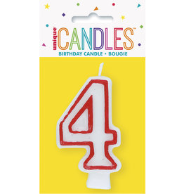 unique Birthday Number Candle #4