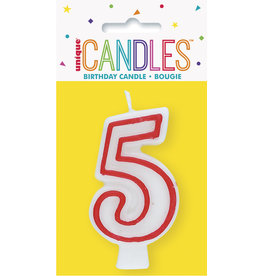 unique Birthday Number Candle #5