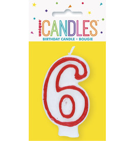 unique Birthday Number Candle #6