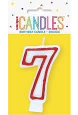 unique Birthday Number Candle #7