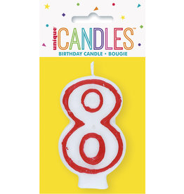 unique Birthday Number Candle #8