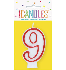 unique Birthday Number Candle #9