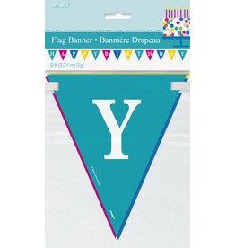 unique Happy Birthday Flag Banner - 9ft.