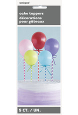 unique Balloon Cake Toppers - 5ct.