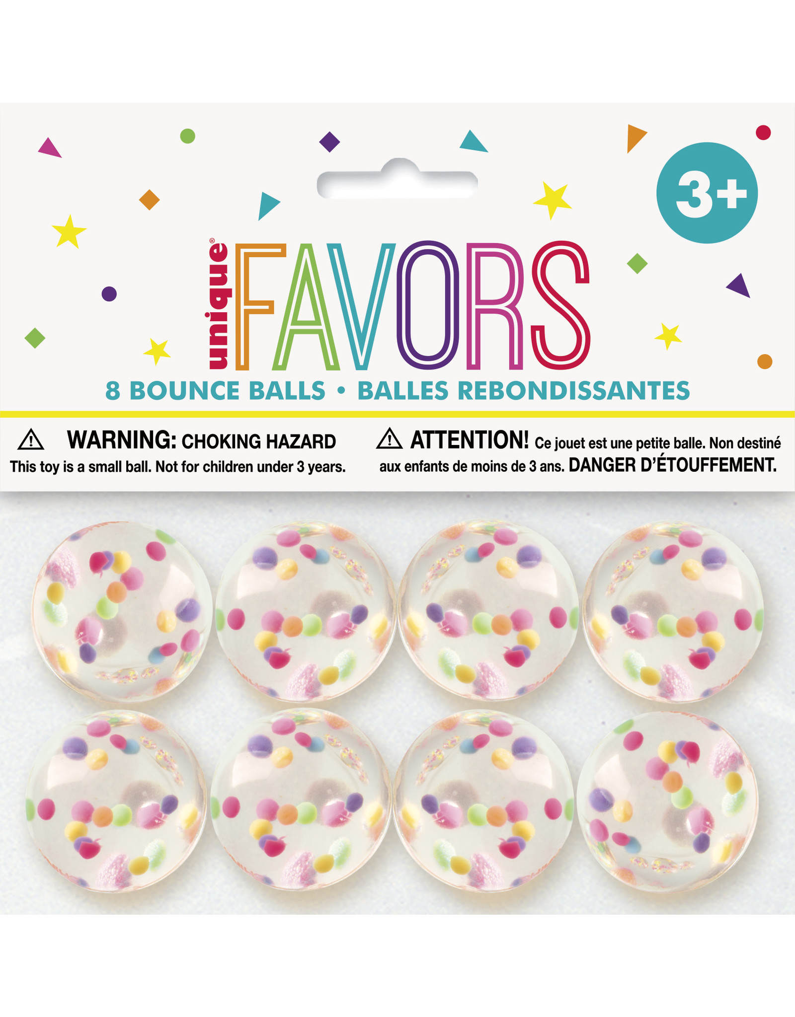 unique Clear Bounce Balls - 8ct.