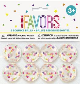 unique Clear Bounce Balls - 8ct.