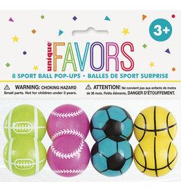 unique Sport Ball Pop Ups - 8ct.