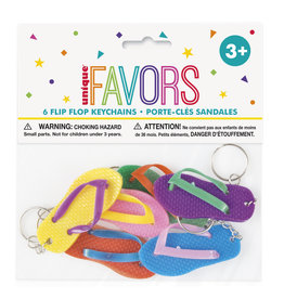 unique Flip Flop Keychains - 6ct.