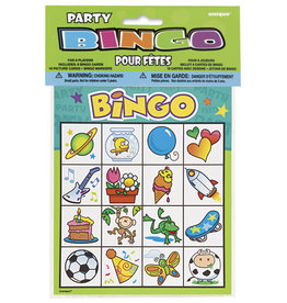 unique PARTY BINGO GAME - 8ct.