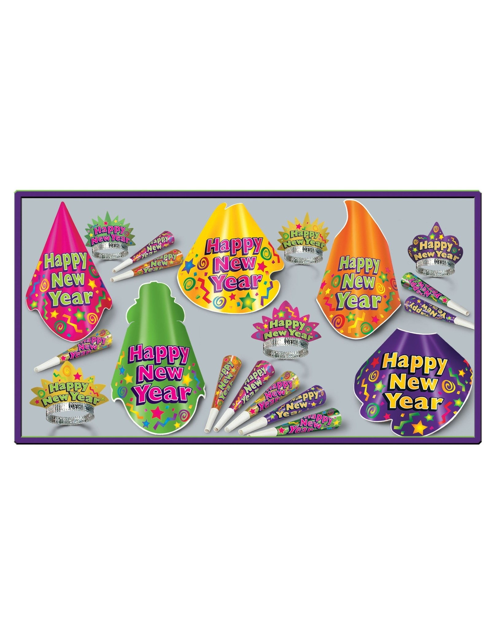 Beistle New Years Eve Color-Splash  10ct. Party Kit