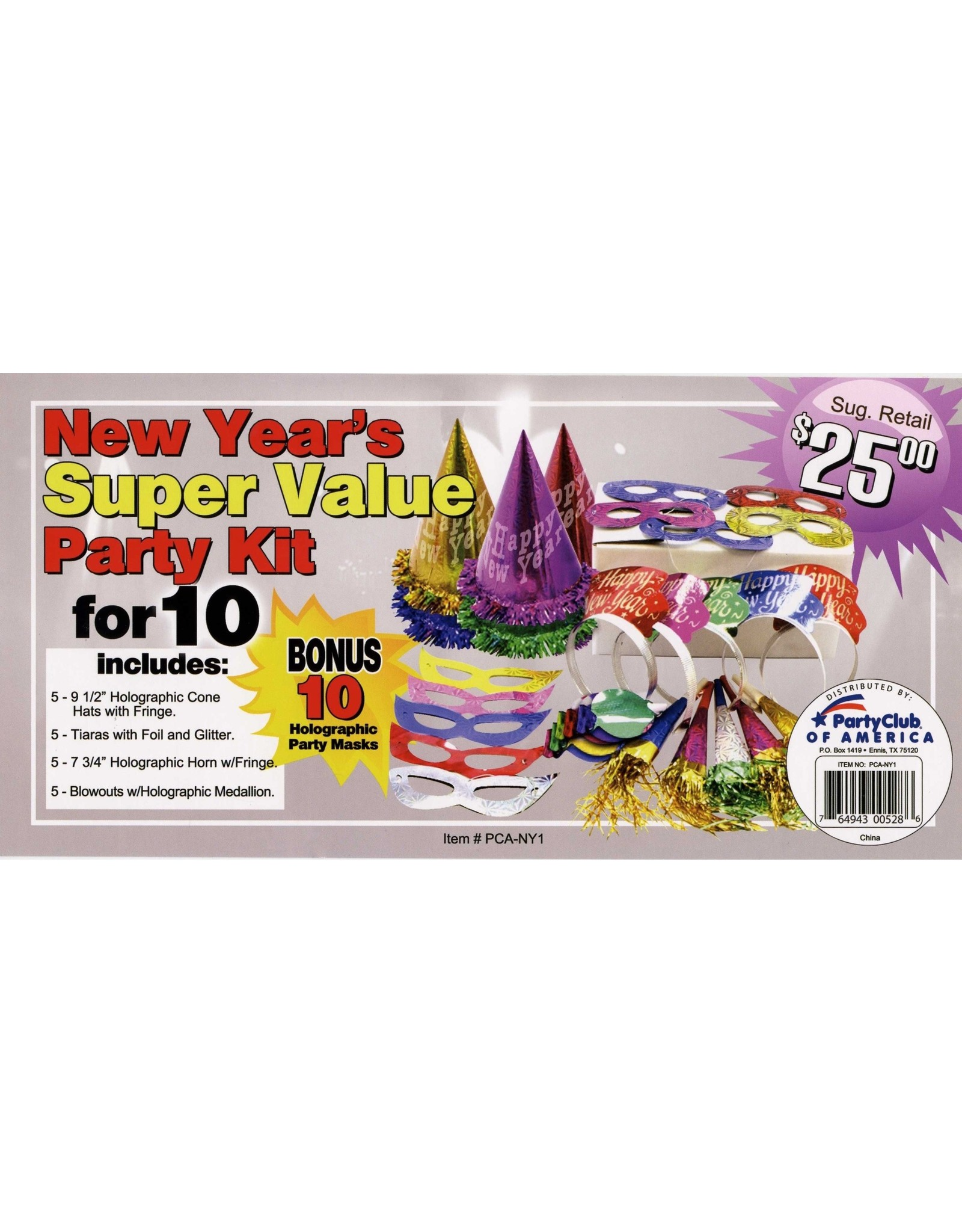 party club New Year's Super Value Party Kit For 10