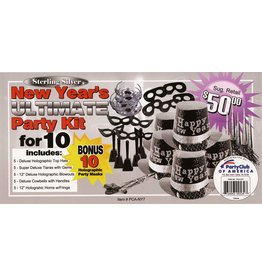 party club Silver New Years Ultimate Party Kit For 10