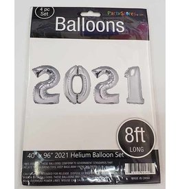 Paper  First Affiliates 2021 Mylar Balloon Set - 40""