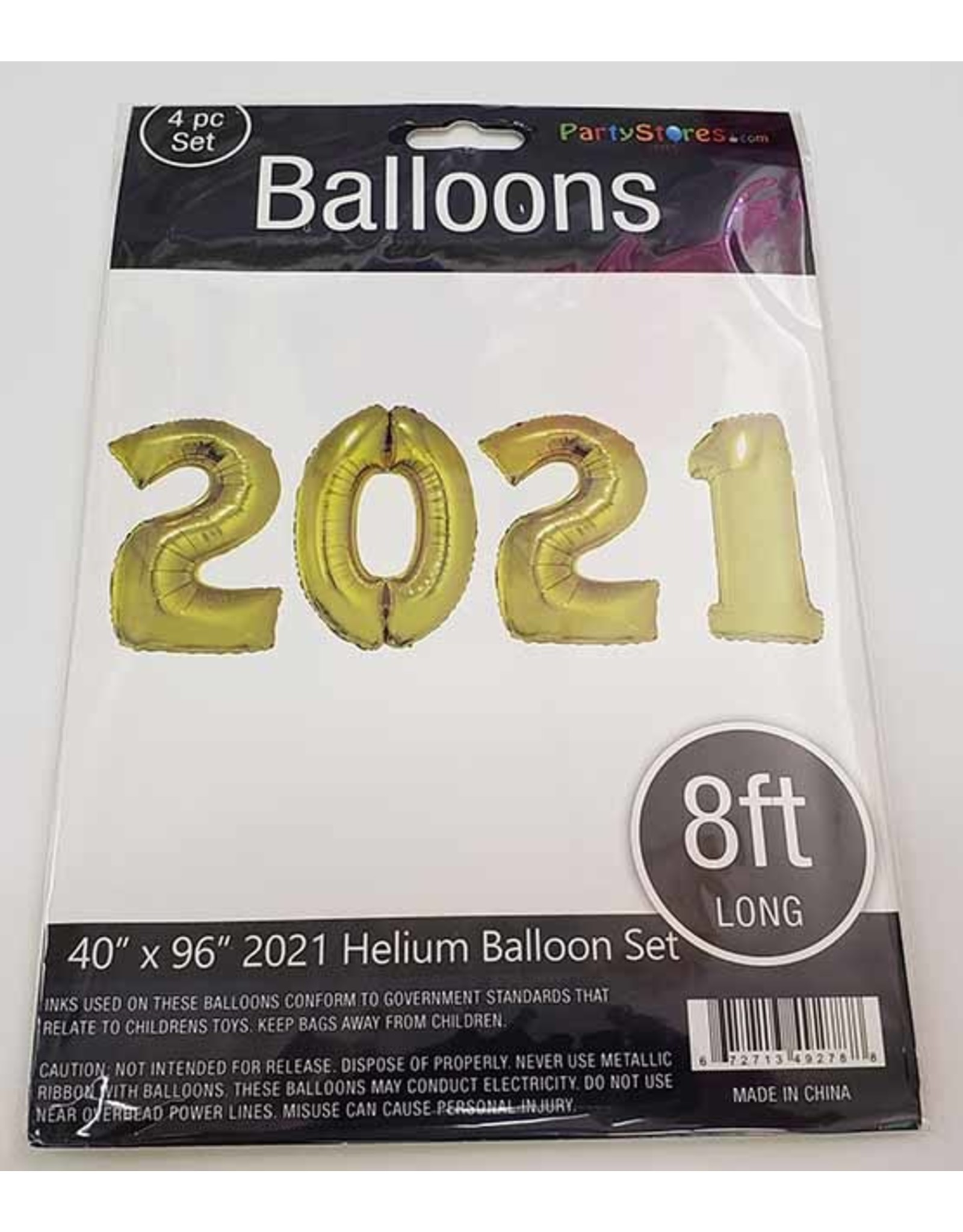 """Paper  First Affiliates 2021 Mylar Balloon Set - 40"""" Comes in 4 Colors!"""