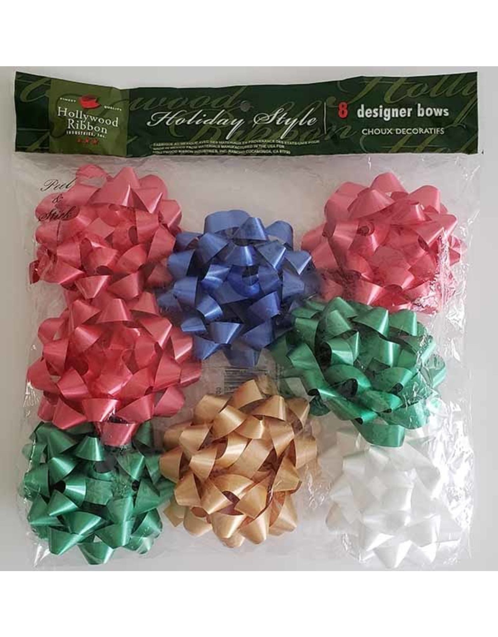 Hollywood Ribbon 8ct. Designer Bows in Asst. Colors