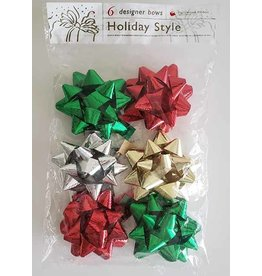 Hollywood Ribbon Holiday Shiny Bows - 6ct.