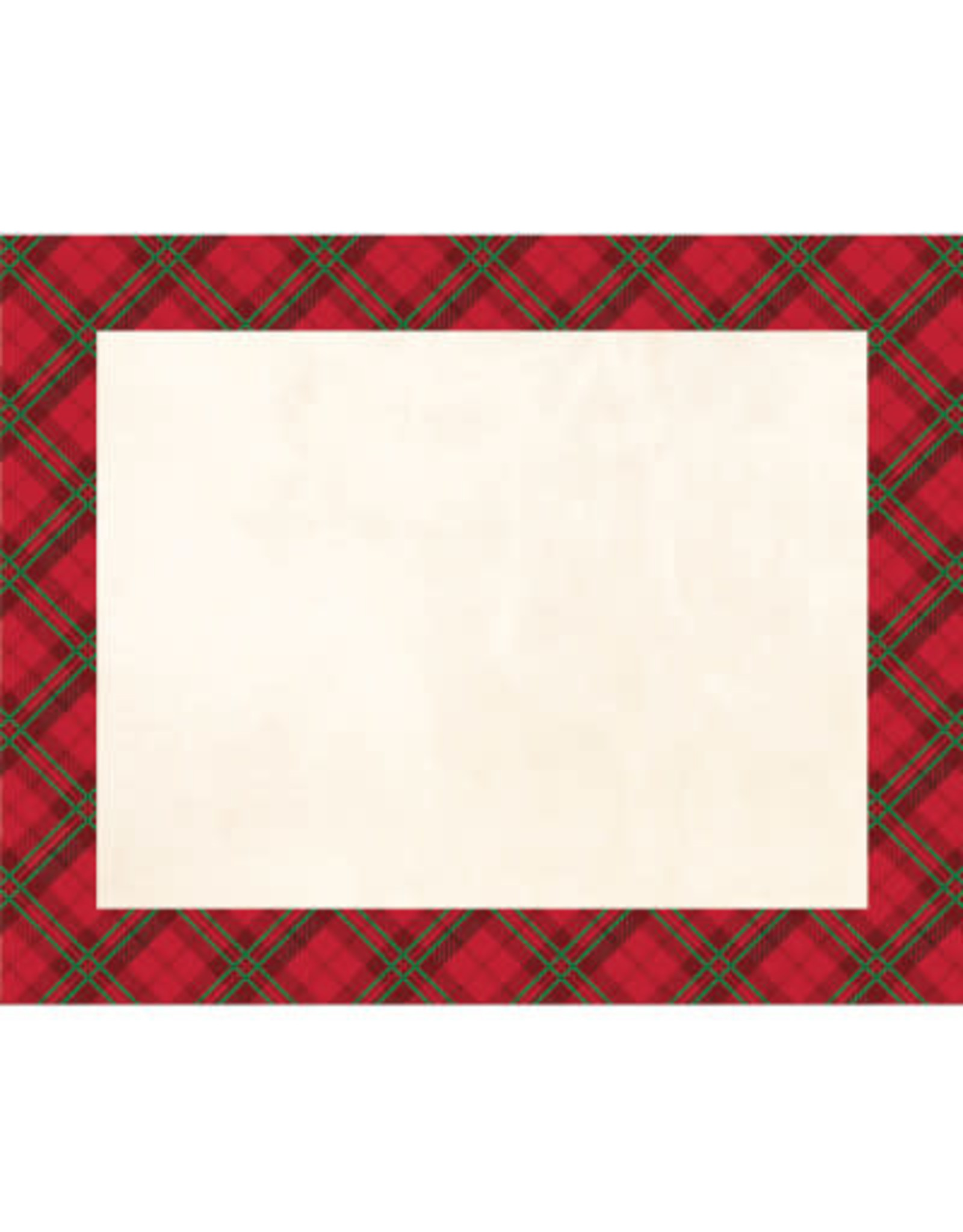 creative converting Holiday Plaid Placemats