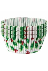 Amscan Holly Christmas Baking Cups -  15ct.