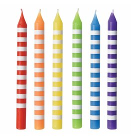 Amscan STRIPED RAINBOW CANDLES - 12ct.