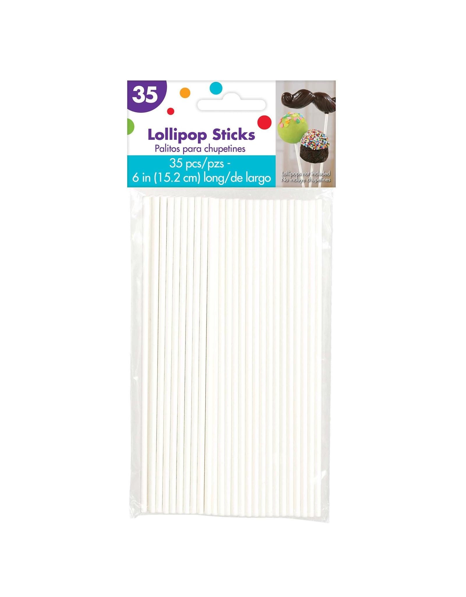 "Amscan 6""  Lollipop Sticks - 35ct."
