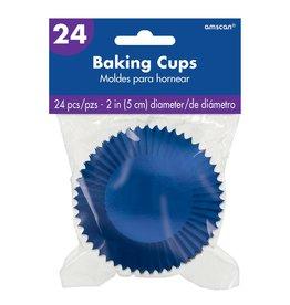 Amscan Royal Blue Foil Baking Cups - 24ct.