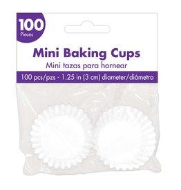 Amscan White Mini Baking Cups - 100ct.