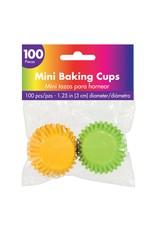 Amscan Asst. Color Mini Baking Cups - 100ct.