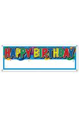 Beistle Happy Birthday Custom Banner