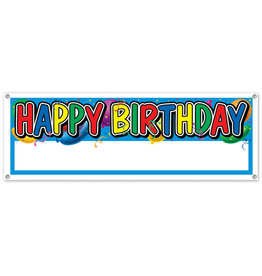 Beistle Happy Birthday Custom Banner - 5ft.