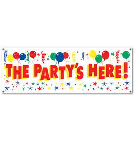 Beistle The Party's Here! Sign Banner - 5ft.