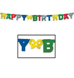 Beistle Happy Birthday Jointed Banner - 8ft.