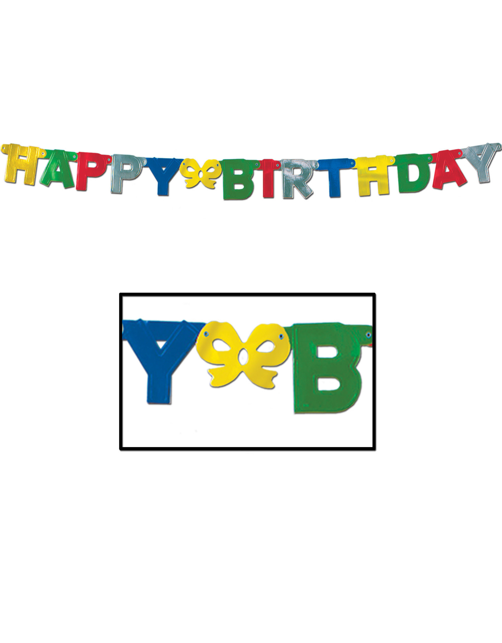 Beistle Happy Birthday Jointed Banner - 5ft.