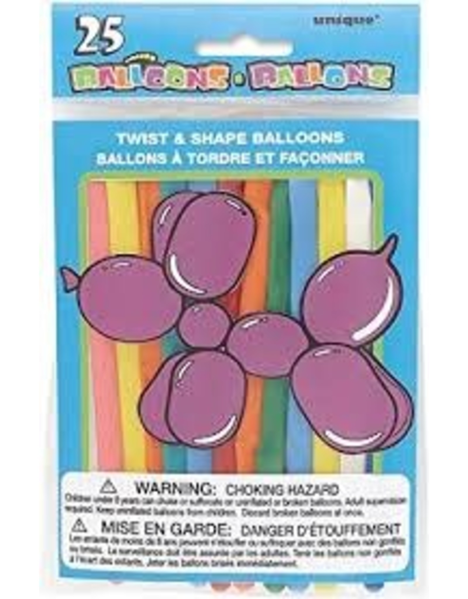 unique Twist and Shape Balloons - 25ct.
