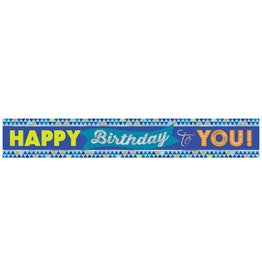 Amscan True Blue Bday  Foil Banner - 12ft.