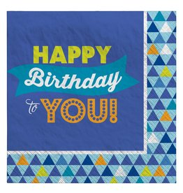 Amscan True Blue Bday Lunch Napkins - 16ct.