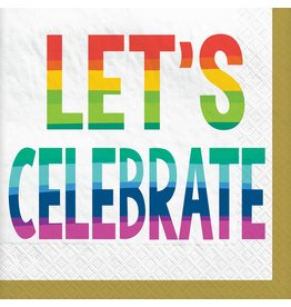 Amscan RAINBOW WISHES BEV. NAPKINS - 36CT.
